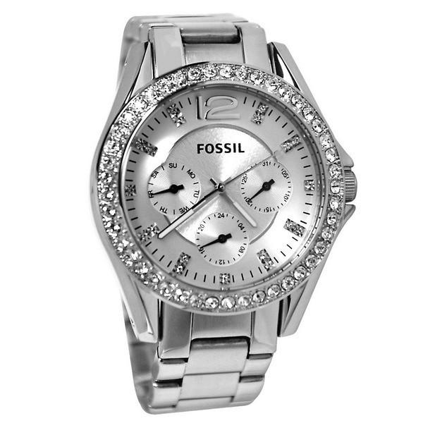 Dámské hodinky Fossil Riley ES 3202 Swarovski