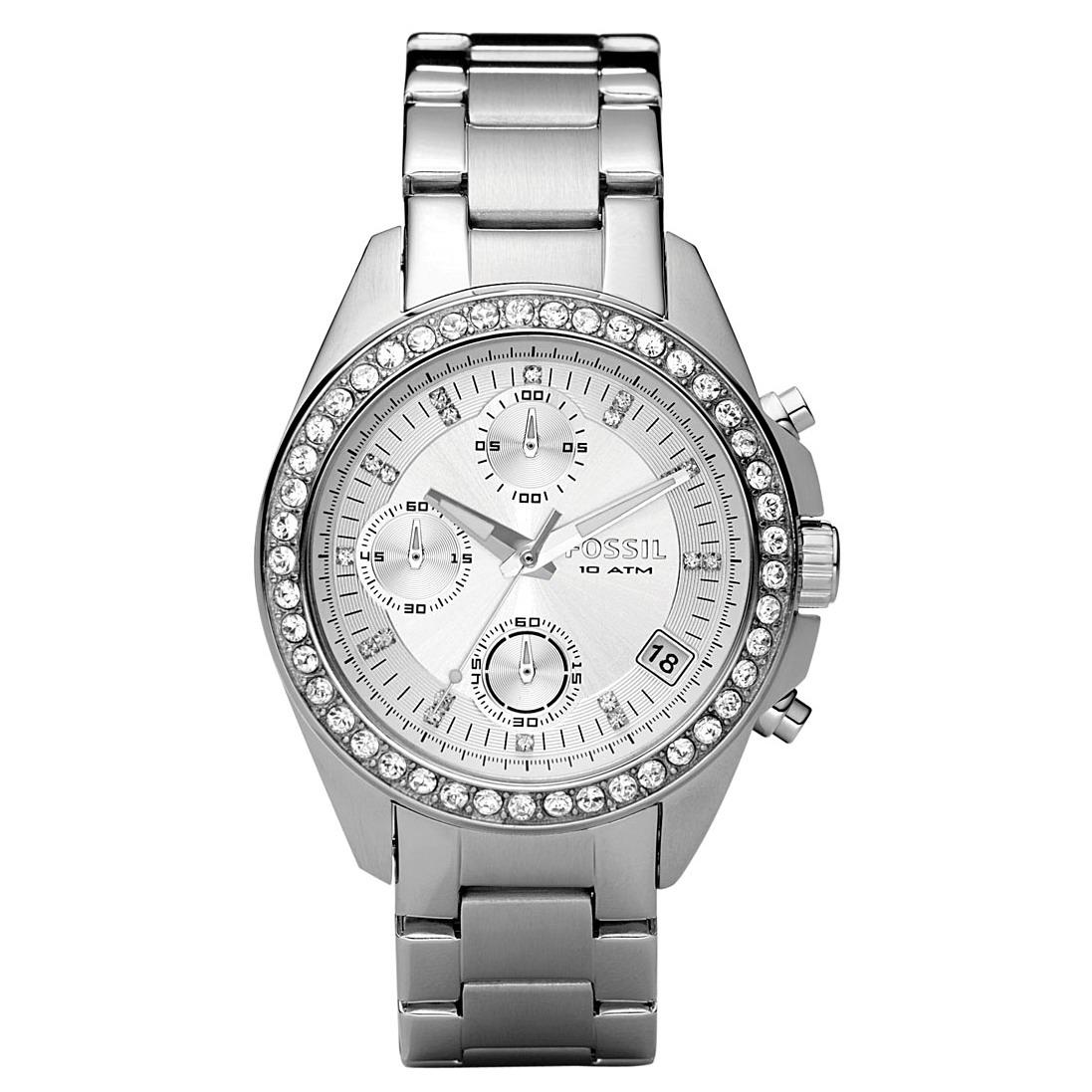 Dámské hodinky Fossil Decker ES 2681 Swarovski